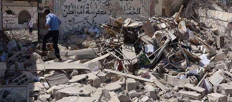 La prison de Tadmor, en Syrie, détruite par Daesh (Image d'illustration prise le 30 mai 2015).