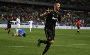 Karim Benzema, buteur contre Malaga, le 10 janvier 2012
