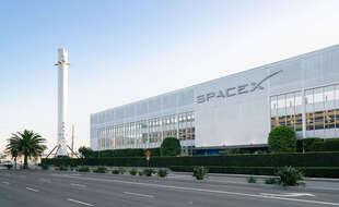 Le siège de SpaceX à Los Angeles.