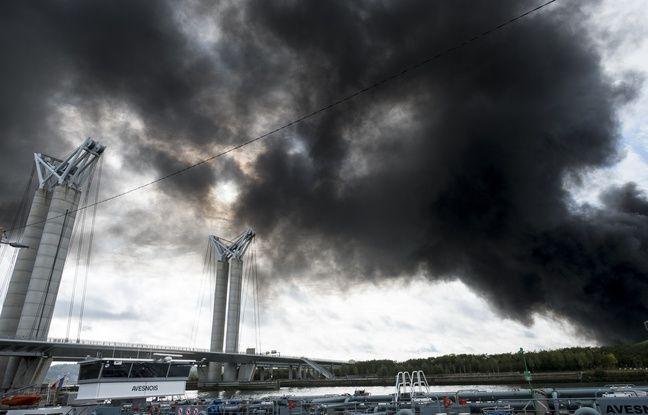 Incendie de l'usine Lubrizol à Rouen: 4.252 tonnes de produits ont brûlé chez Normandie Logistique