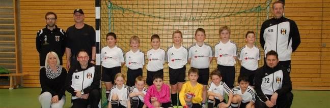 L'équipe des Poussins du club de foot de Sulz am Neckar, entraîné par mon Martin