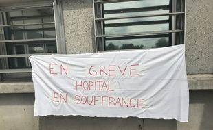Les services des urgences du CHU de Strasbourg sont en grève. Ici à l'hôpital de Hautepierre.