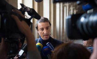 Karim Achoui, le 17 septembre 2013 à son arrivée à la cour d'assises de Paris.