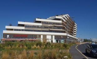 Le Liner, bâtiment phare du projet Ode à la mer, a pris feu mardi soir.