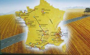Le parcours du Tour de France, dévoilé le 19 octobre 2010 à Paris.