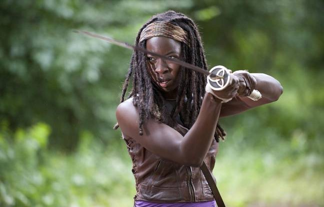 Michonne (Danai Gurira) dans la saison 3 de The Walking Dead.