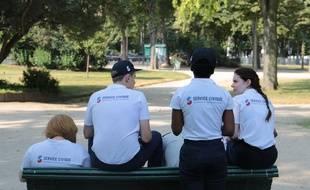 Des jeunes en service civique