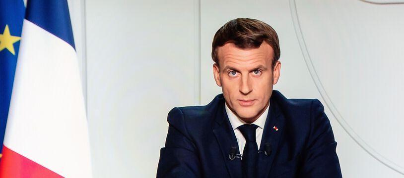 Emmanuel Macron lors de l'annonce du deuxième confinement, fin octobre. (archives)