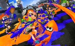 Le jeu vidéo Splatoon sur Nintendo Wii.