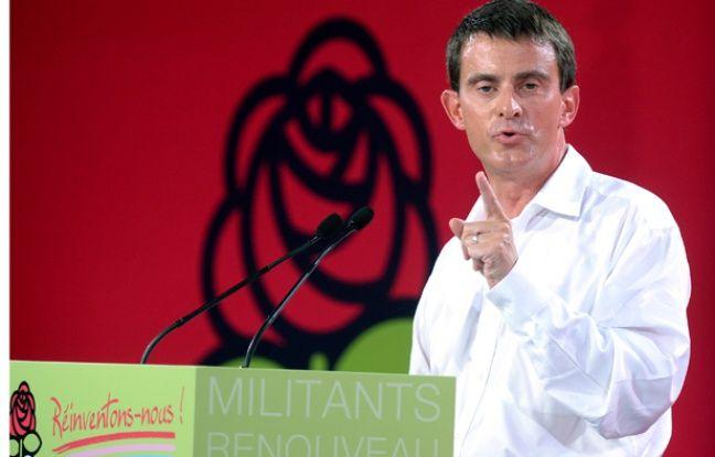 Manuel Valls en clôture de l'université d'été du Parti socialiste.