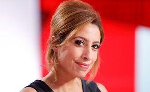 Léa Salamé sur le plateau de « L'Emission politique » qu'elle présente avec David Pujadas sur France 2.