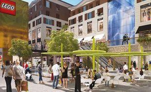 Image de synthèse du projet de Promenade Sainte-Catherine à Bordeaux