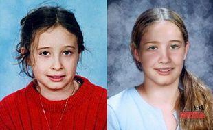 Montage photo réprésentant Estelle Mouzin au moment de sa disparition et un portrait de la fillette vieillie.
