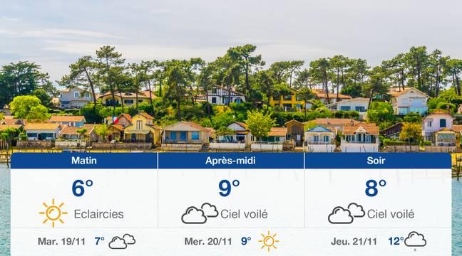 Météo Arcachon: Prévisions du lundi 18 novembre 2019 - 20minutes.fr