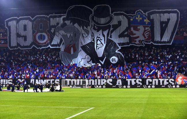 Le tifo pour le 30e anniversaire des Bad Gones à Lyon.