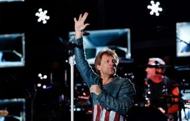 Jon Bon Jovi sur scène à Melbourne en Australie, le 7 décembre 2013.