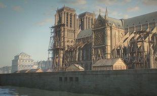 Sophie Marceau prête sa voix à la cathédrale qui se raconte sur 850 ans.