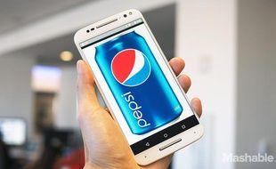 Un visuel du Pepsi 1, le smartphone actuellement développé par Pepsi