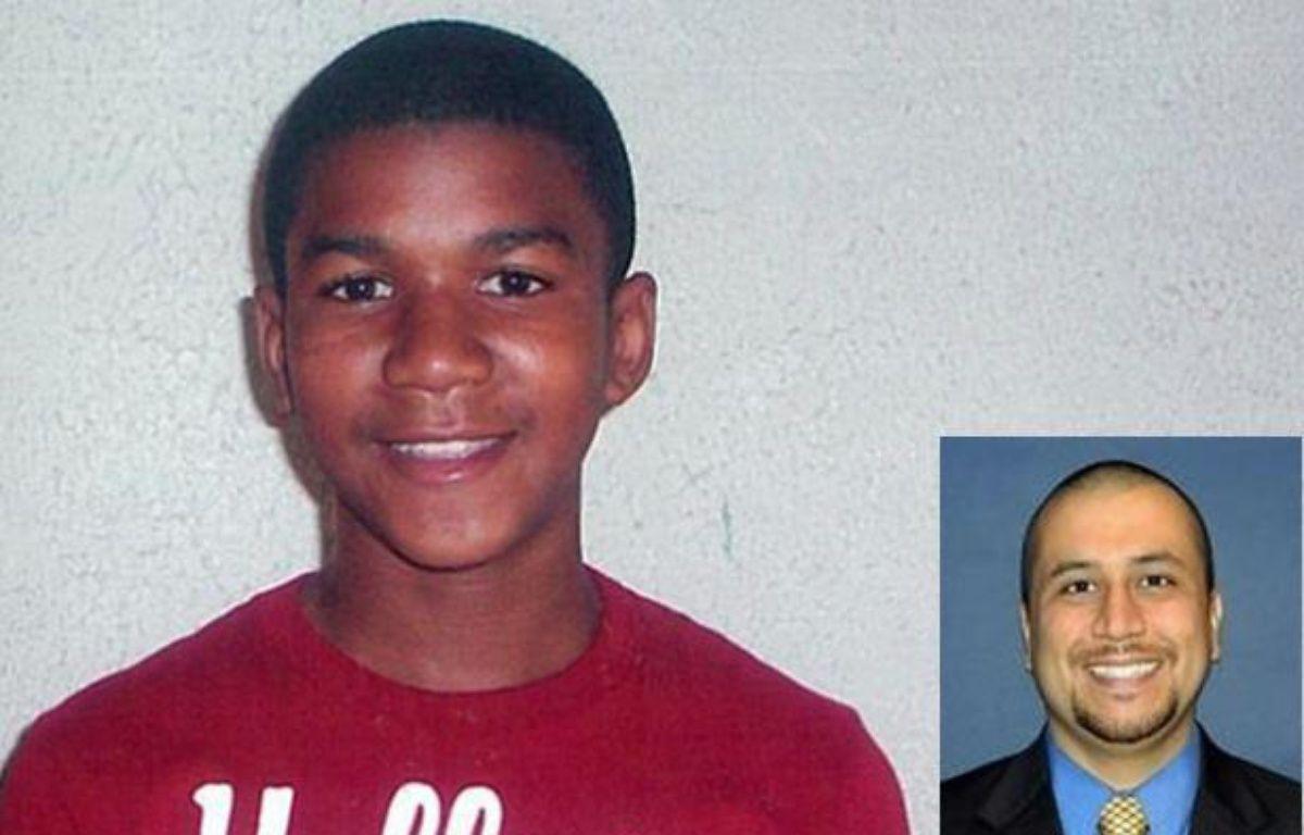 Trayvon Martin, 17 ans, tué le 26 février 2012 à Sanford en Floride par George Zimmerman (à droite, photo du Orlando Sentinel), 28 ans, qui plaide la légitime défense. – DR