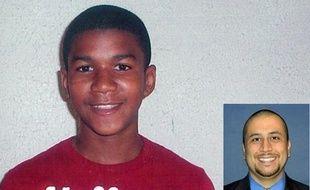 Trayvon Martin, 17 ans, tué le 26 février 2012 à Sanford en Floride par George Zimmerman (à droite, photo du Orlando Sentinel), 28 ans, qui plaide la légitime défense.