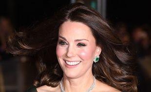 Kate Middleton, à la cérémonie des BAFTA,  à Londres, le 18 février 2018.