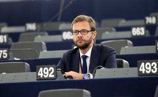 01 Juillet 2014 Strasbourg -Jerome Lavrilleux a pris place dans l'hemicycle du Parlement Europeen a Strasbourg