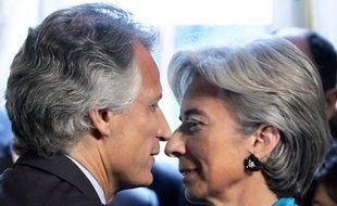 Dominique de Villepin et Christine Lagarde en mai 2006, lors d'une conférence de presse.