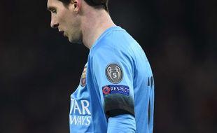 Liomnel Messi lors d'Arsenal-Barcelone en 8e de finale aller de la Ligue des champions, le 23 février 2016.