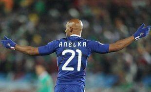 Le joueur de l'équipe de France, Nicolas Anelka, lors du match France - Mexique, le 17 juin à Polokwane (Afrique du sud).