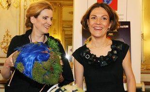 Nathalie Kosciusko-Morizet et Chantal Jouanno à Paris le 23 octobre 2008.