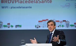 François Fillon au palais Brongniart à Paris le 21 février 2017.