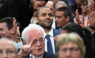 Tony Parker, ici le 11 mai lors de la finale de Coupe de France remportée par son club de l'Asvel à Bercy.