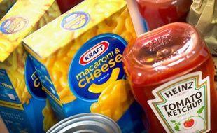 Illustration de produits du groupe agroalimentaire américain Kraft Heinz.