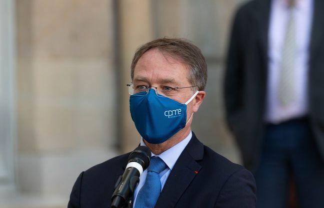 648x415 francois asselin president de la cpme a paris dans la cour de matignon le 26 octobre 2020