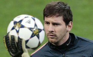 Le Barcelonais Lionel messi à l'entraînement, le 19 février 2013, àSan Siro.