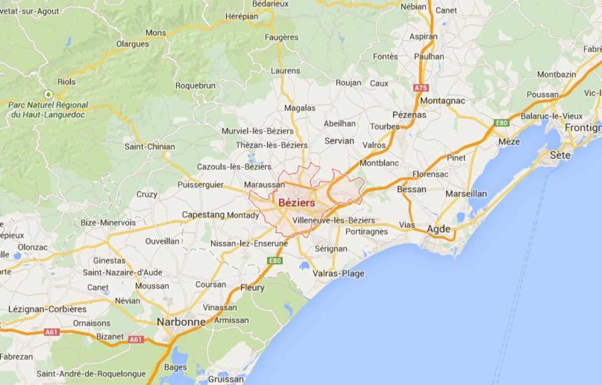 Capture d'écran: Vue Google Maps de Béziers. – Google Maps