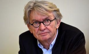 Le leader du parti FO, Jean-Claude Mailly en conférence de presse à Paris, le 29 mars 2017.