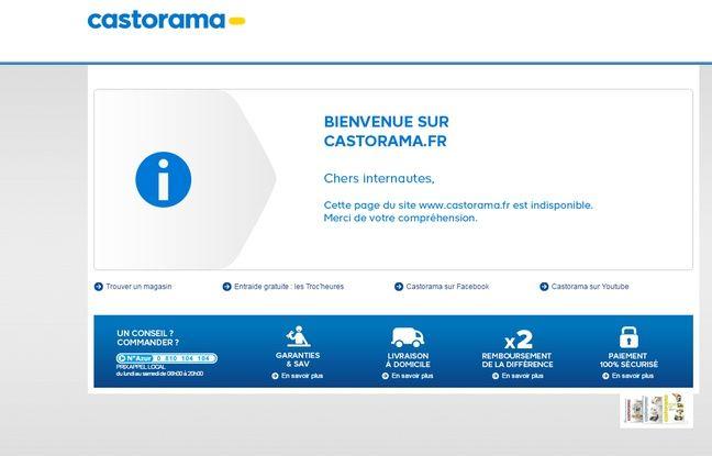 Capture écran du site Castorama http://www.castorama.fr/store/ 8 juin 2016