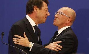 Photo d'archives de Christian Estrosi et Eric Ciotti prise lors de l'élections régionale de Provence-Alpes-Côte d'Azur en 2015.