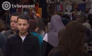 Salah Abdeslam filmé en 2014 par la télévision belge TV Brussel.