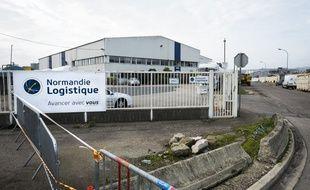 Les locaux de l'entreprise Normandie Logistique, le 23 octobre 2019.