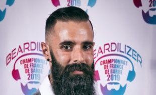 Mathieu Puginier, originaire de Labège, a décroché le titre de champion de France pour sa barbe naturelle de moins de 20 cm.