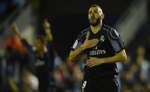 Karim Benzema a marqué contre le Celta