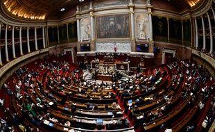 L'hémicycle de l'Assemblée nationale, le 1er août 2018.