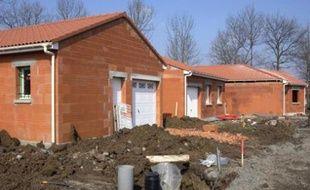 Maison en construction.