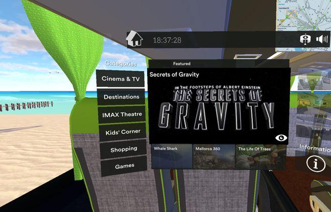 L'interface (encore en anglais) des casques FlixVR.