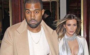 Kanye West et Kim Kardashian à Paris le 21 janvier 2014