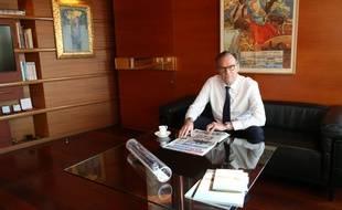 Renaud Muselier dans son bureau de président du conseil régional