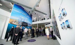 Le drone Watchkeeper de Thales, exposé le 15 juillet 2014 à Farnborough en Angleterre