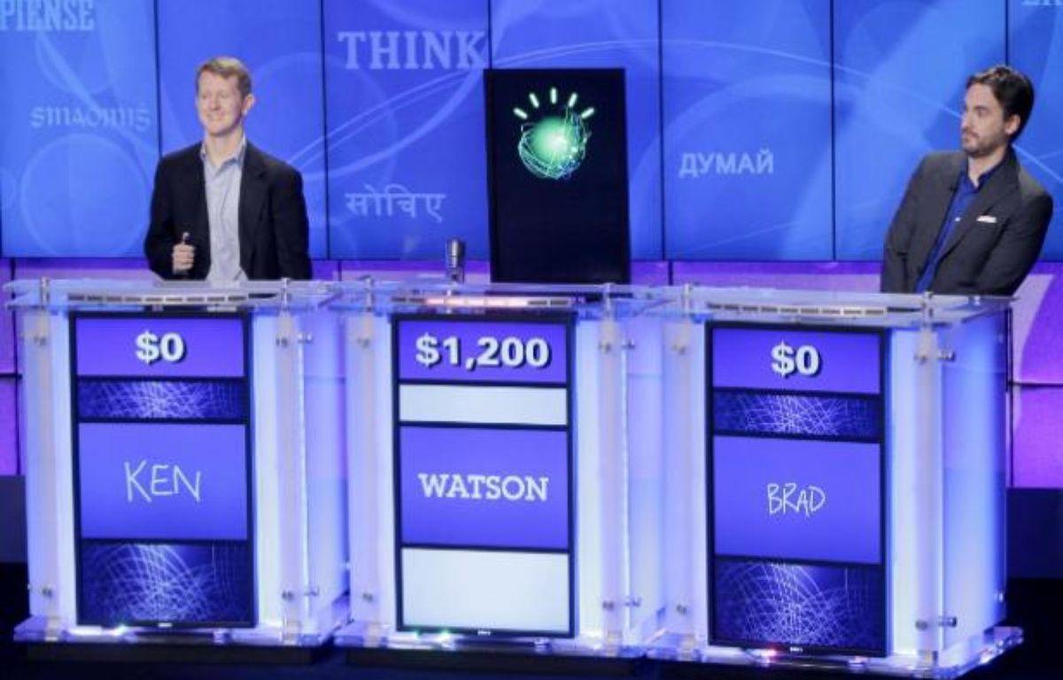 Watson, le superordinateur d'IBM, face à deux champions du jeu Jeopardy – AP/SIPA/S.WENIG